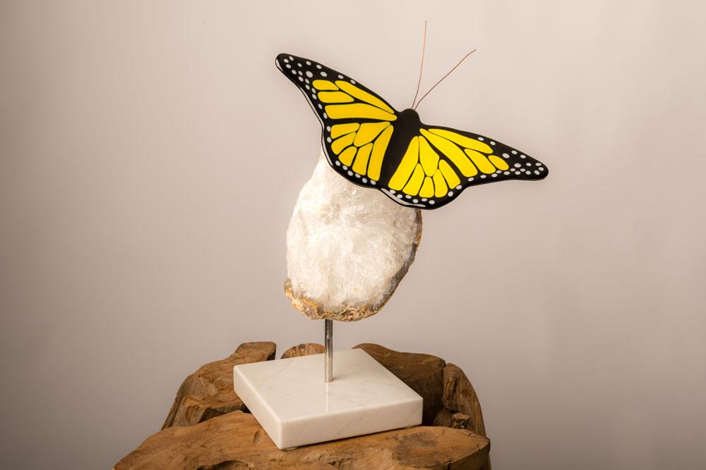 Monarch vlinder van glas