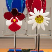 National flowers, glasfusing bloem, herinneringsbeeld