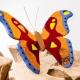 Herinneringsbeeld Atlasvlinder met asverwerking in glas