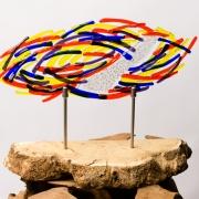 Abstract gedenkobject geïnspireerd op laatste schilderwerkje kind