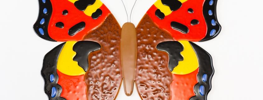 Gedenkbeeld vlinder van glas - Grote vos