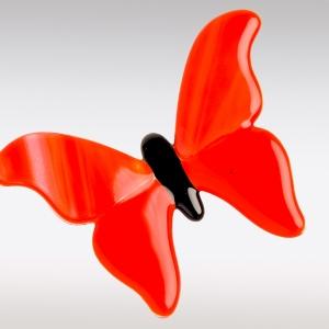 Vlinder decoratie van glas