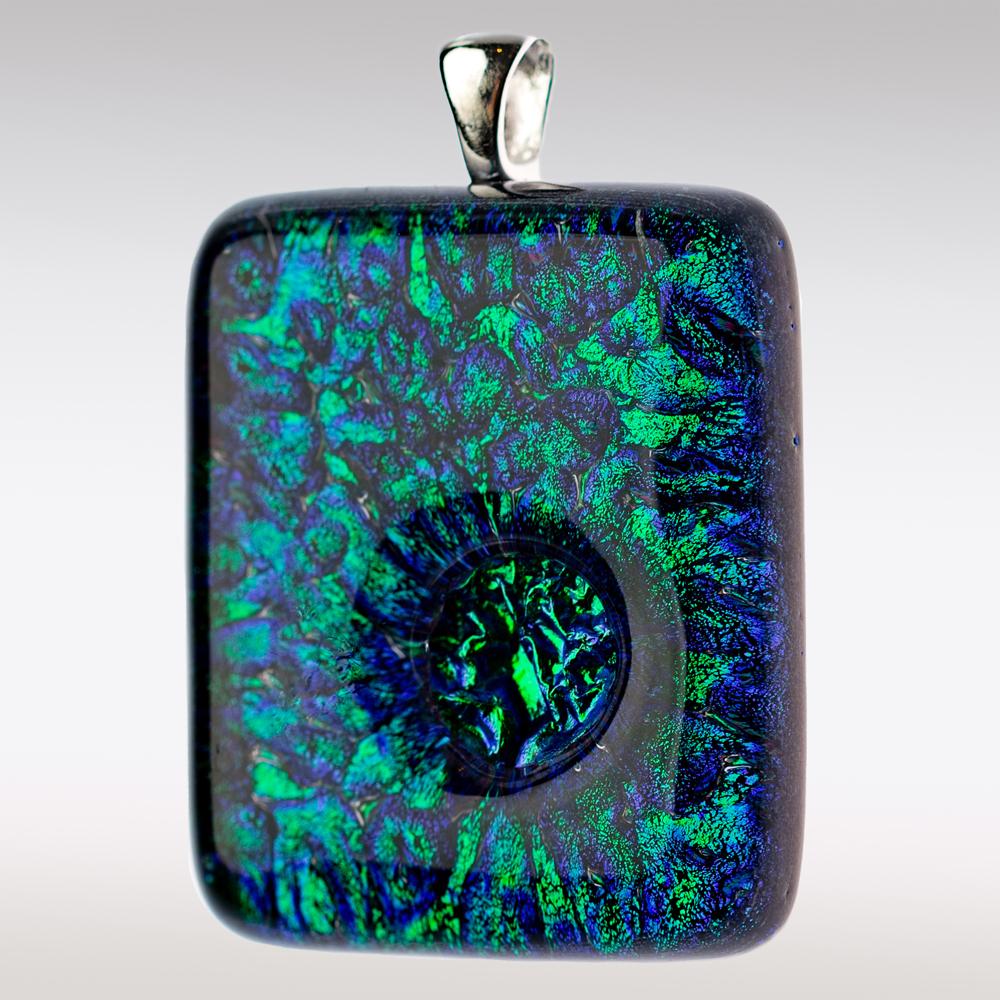 Groene ashanger van glas
