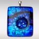 Unieke glazen ashangers blauw-aqua