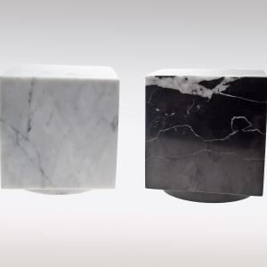 Cubos urn marmer wit zwart