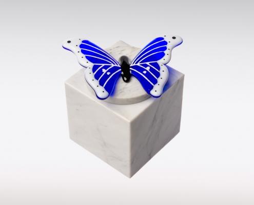 Cubos urn vlinder blauw sierlijk