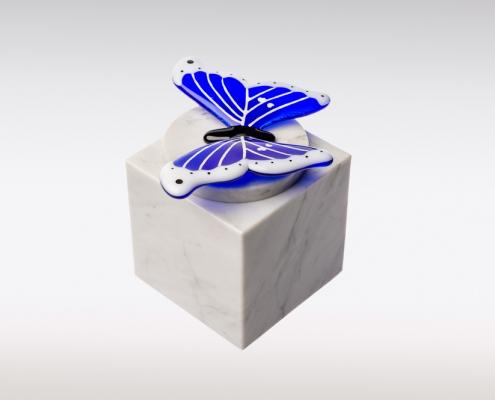 Cubos urn vlinder blauw sierlijk zijkant