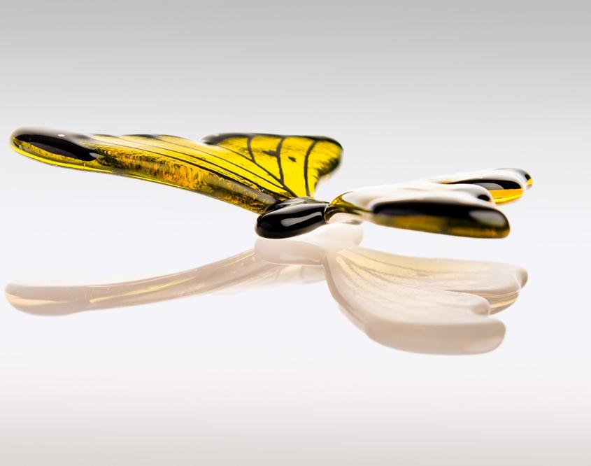 Vlinder Dierbaar Glas grafornament van glas