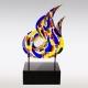Herinneringsbeeld Flame - glazen vlam met crematie-as
