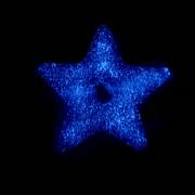 Glow in the dark ster van glas met haarlok